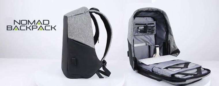 Nomad Backpack: le sac à dos avec port USB pour ordinateur et accessoires électroniques